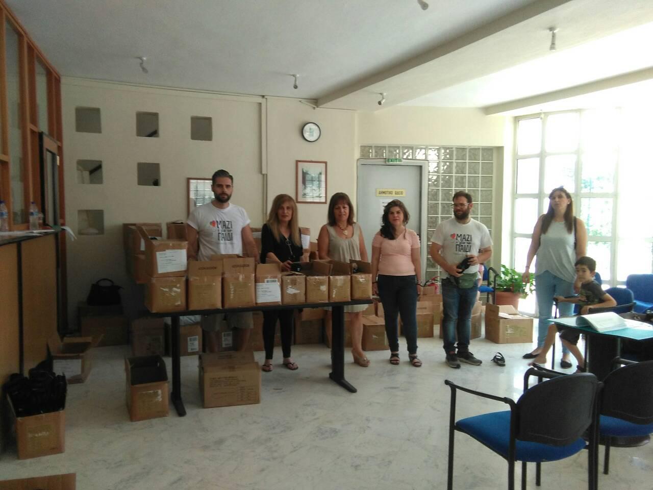 Διανομή παπουτσιών από την οργάνωση «Μαζί για το Παιδί» στην Έδεσσα