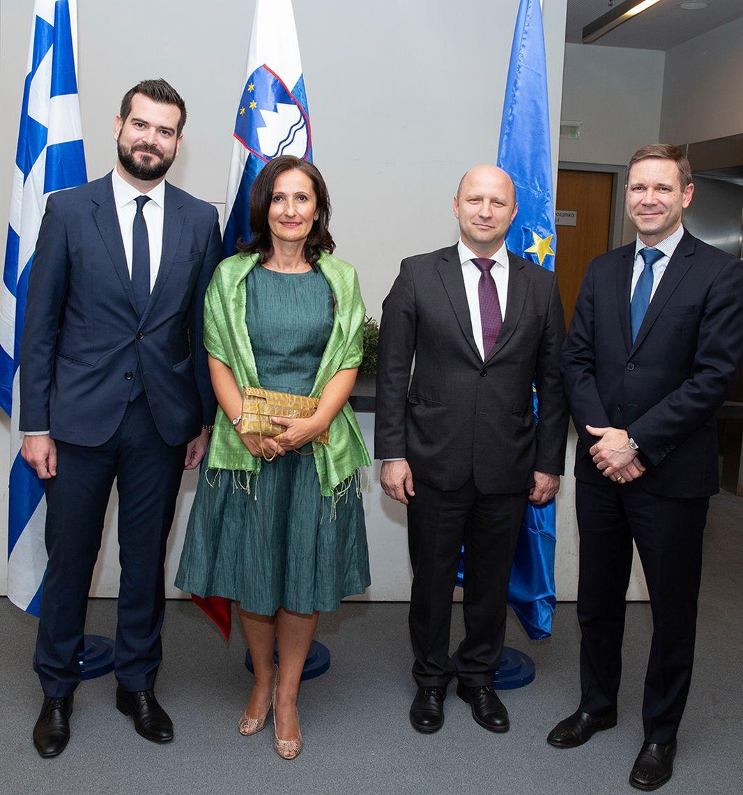 Δεξίωση από την πρεσβεία της Σλοβενίας με αφορμή τα εγκαίνια επίτιμου προξενείου στη Θεσσαλονίκη