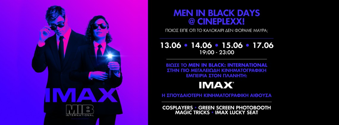 MEN IN BLACK DAYS @ CINEPLEXX!