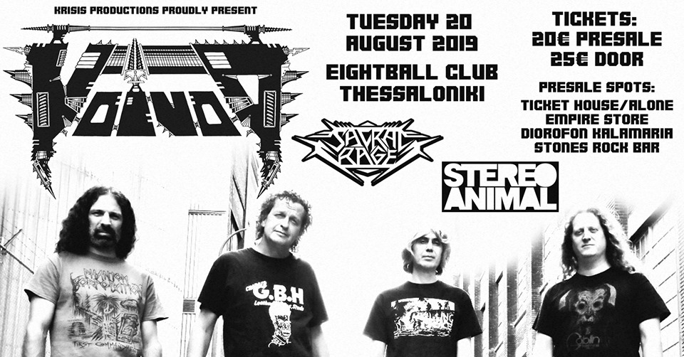Voivod Live in Thessaloniki with Sacral Rage and Stereo Animal