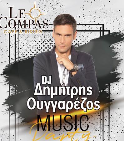 Ο Δημήτρης Ουγγαρέζος στα decks του Le Compas
