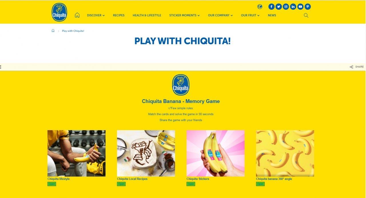 Η μπανάνα Chiquita #ΜένειΣπίτι και απασχολεί δημιουργικά γονείς και παιδιά με παιχνίδια και συνταγές