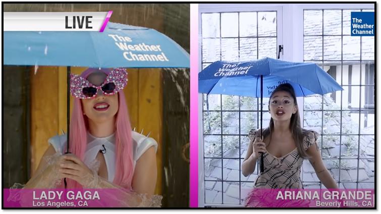 Η πρόγνωση καιρού από τις Lady Gaga & Ariana Grande!